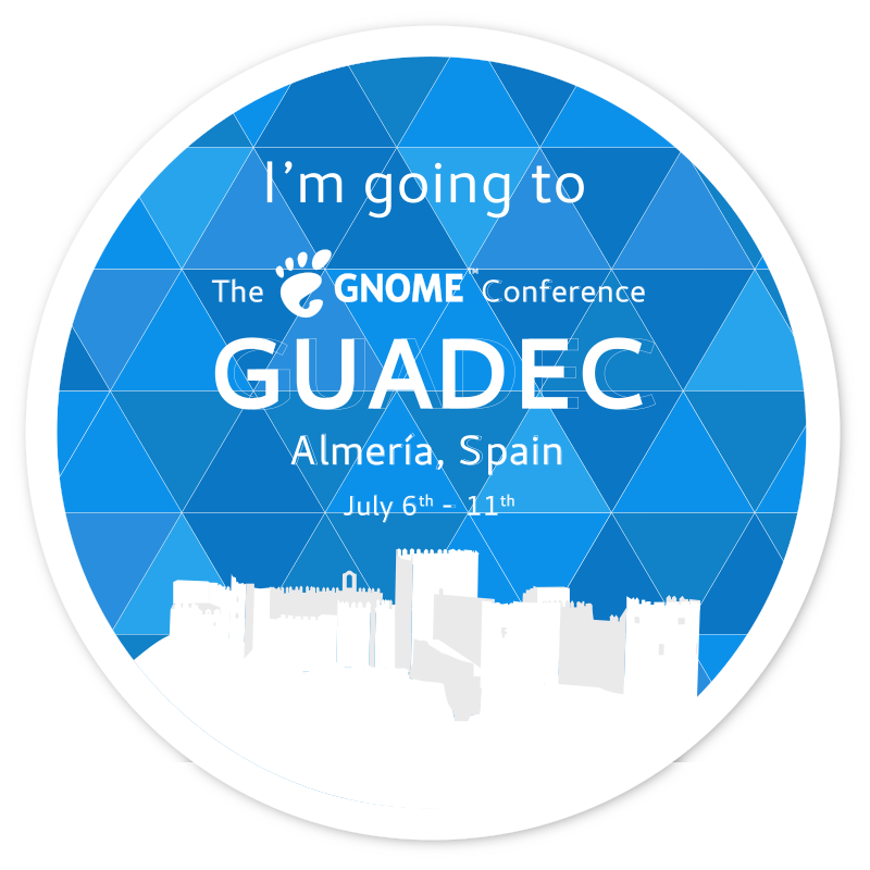 Going to GUADEC 2018 badge