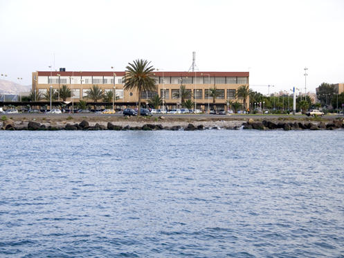The University of Almería from the seaside